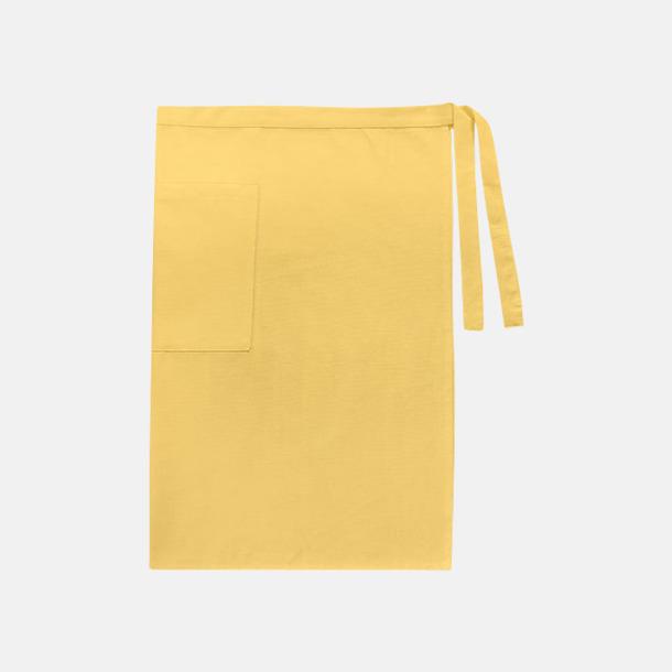 Brilliant Yellow (herr) Midjeförkläden i canvas med reklamtryck