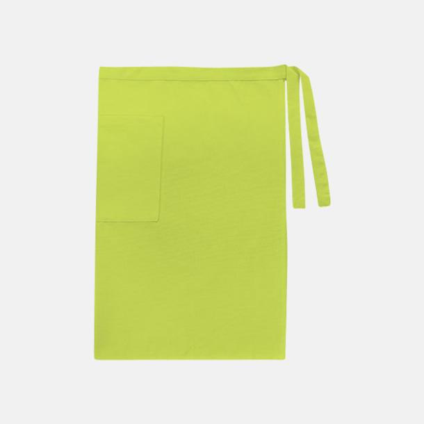 Lime (herr) Midjeförkläden i canvas med reklamtryck