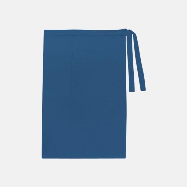 Marinblå (herr) Midjeförkläden i canvas med reklamtryck