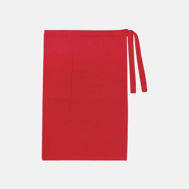 Paprika Red (herr) Midjeförkläden i canvas med reklamtryck