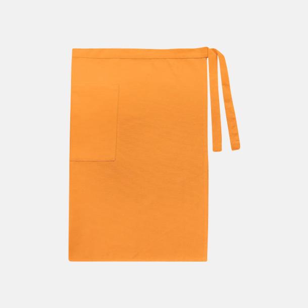 Sunny Orange (herr) Midjeförkläden i canvas med reklamtryck