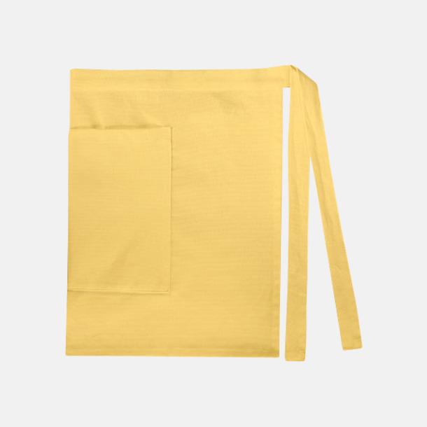 Brilliant Yellow (dam) Midjeförkläden i canvas med reklamtryck