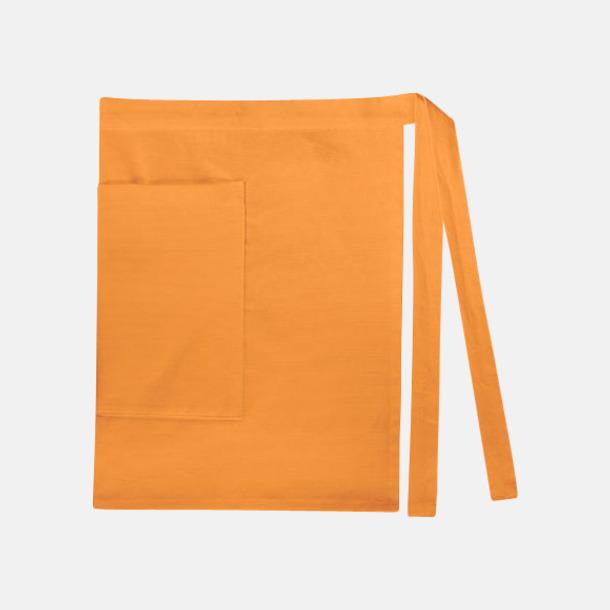 Sunny Orange (dam) Midjeförkläden i canvas med reklamtryck