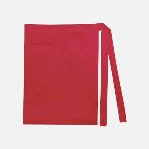Paprika Red (dam) Midjeförkläden i canvas med reklamtryck