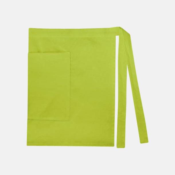 Lime (dam) Midjeförkläden i canvas med reklamtryck