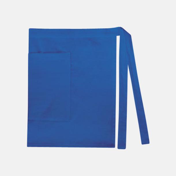 Royal Blue (dam) Midjeförkläden i canvas med reklamtryck