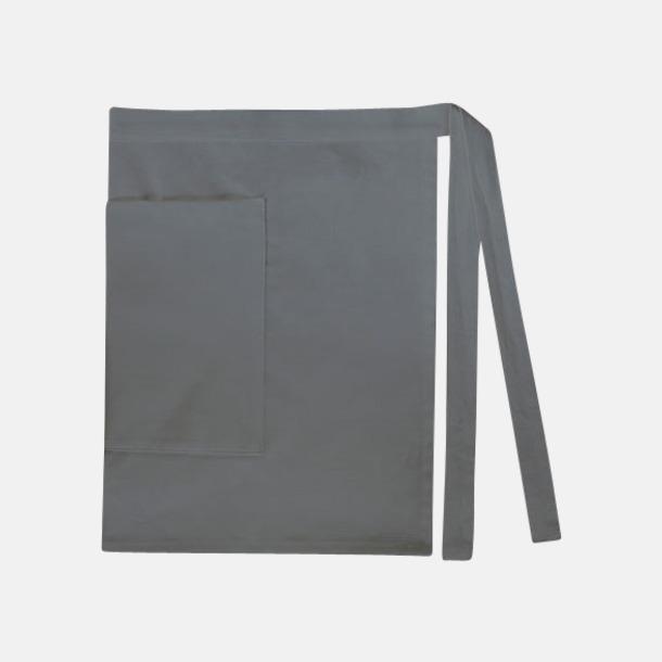 Anthracite Grey (dam) Midjeförkläden i canvas med reklamtryck