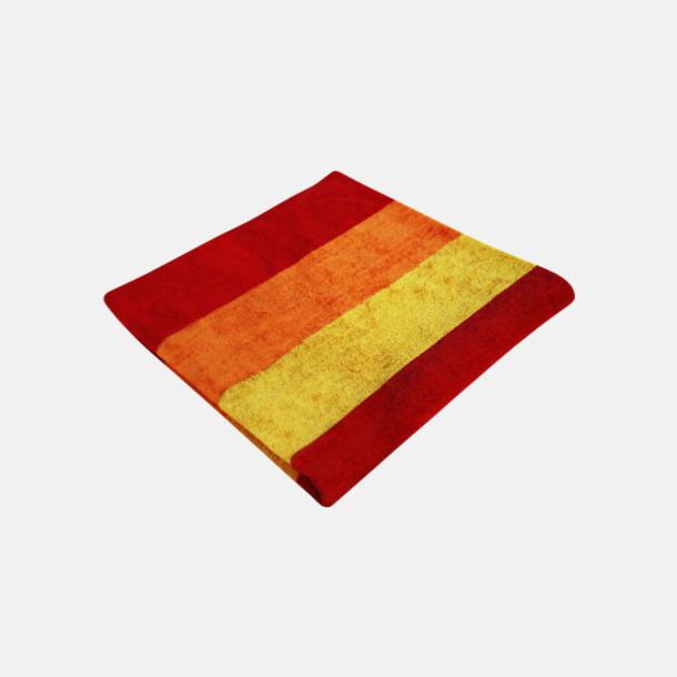 Paprika Red/Orange/Brilliant Yellow Strandhanddukar med reklamlogo