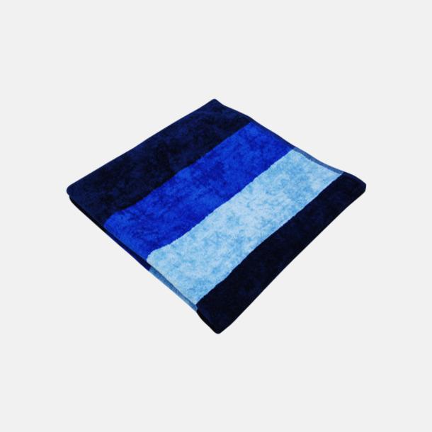 Marinblå/Royal Blue/Baby Blue Strandhanddukar med reklamlogo