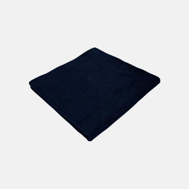 Marinblå Strandhanddukar med reklamlogo