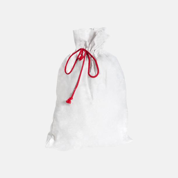 Vit Presentpåsar i bomull med reklamtryck