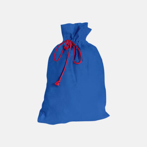 Royal Blue Presentpåsar i bomull med reklamtryck