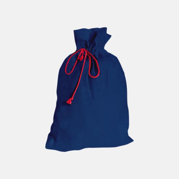 Marinblå Presentpåsar i bomull med reklamtryck