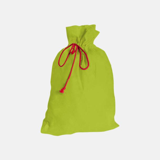 Lime Presentpåsar i bomull med reklamtryck