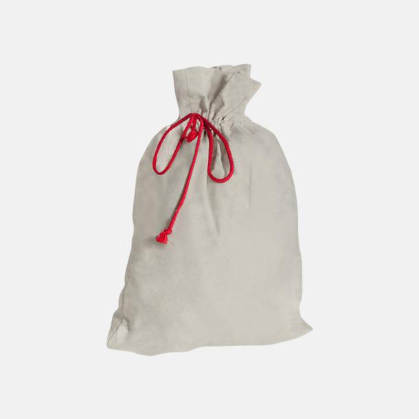 Ivory (beige) Presentpåsar i bomull med reklamtryck