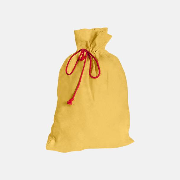 Brilliant Yellow Presentpåsar i bomull med reklamtryck