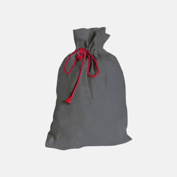 Anthracite Grey Presentpåsar i bomull med reklamtryck