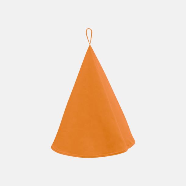 Sunny Orange Runda kökshanddukar i canvasbomull med reklamlogo