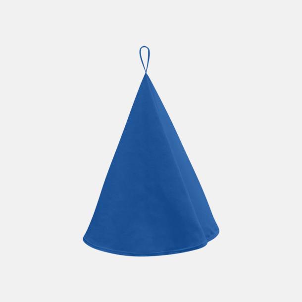 Royal Blue Runda kökshanddukar i canvasbomull med reklamlogo