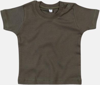 Light Olive Ekologiska t-shirts för småbarn med reklamtryck