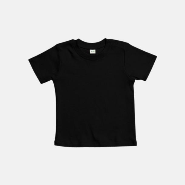 Svart Ekologiska t-shirts för småbarn med reklamtryck