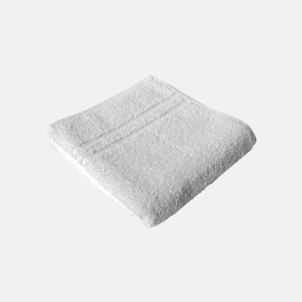Vit Fina kvalitets handdukar med reklamlogo