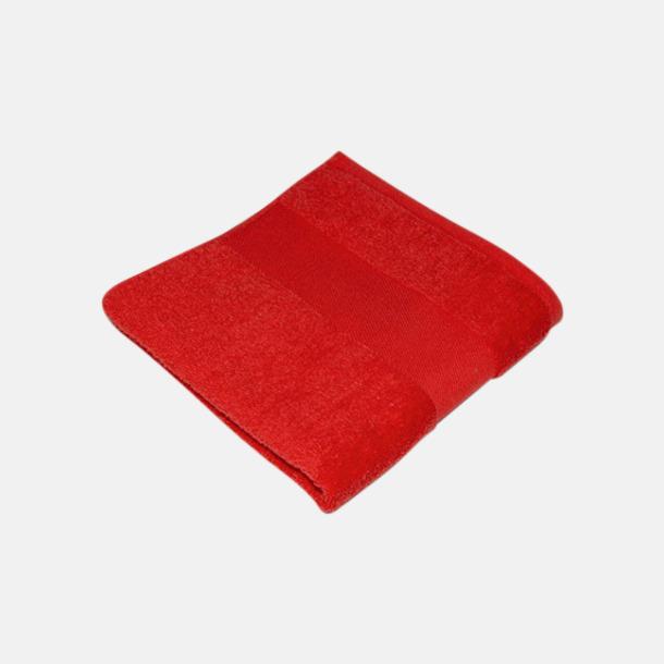 Paprika Red Handdukar i terrybomull med reklamlogo