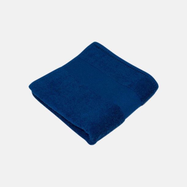Marinblå Handdukar i terrybomull med reklamlogo