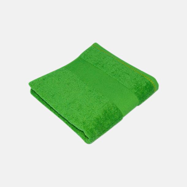 Grön Handdukar i terrybomull med reklamlogo