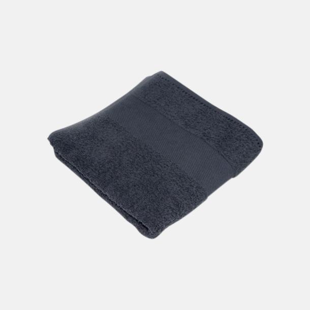 Anthracite Grey Handdukar i terrybomull med reklamlogo