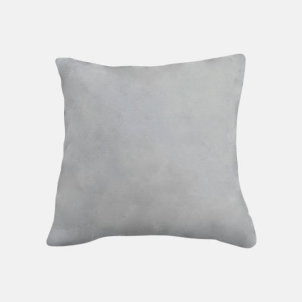 Ljusgrå Kuddfodral i coral fleece med reklamlogo