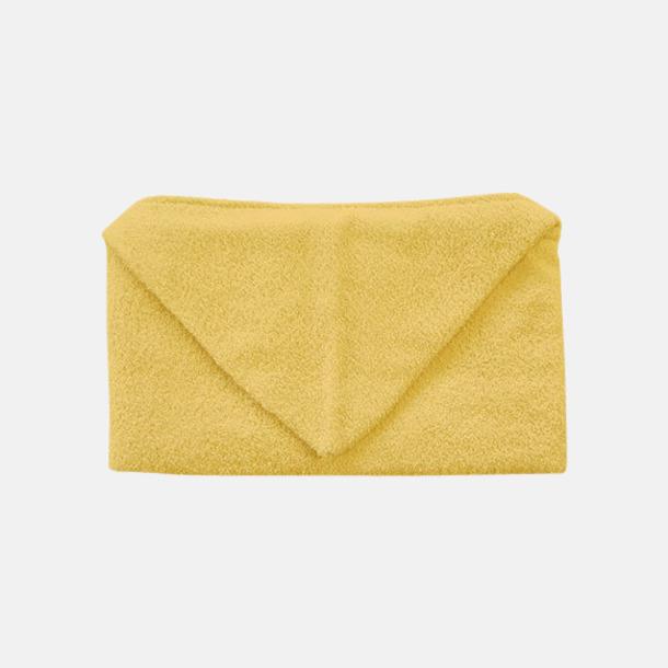 Brilliant Yellow Handdukar för barn med huva - med reklamlogo