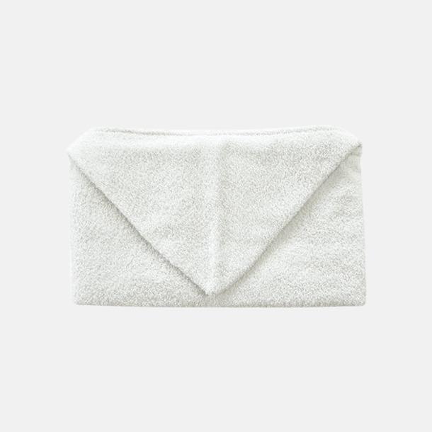 Vit Handdukar för barn med huva - med reklamlogo