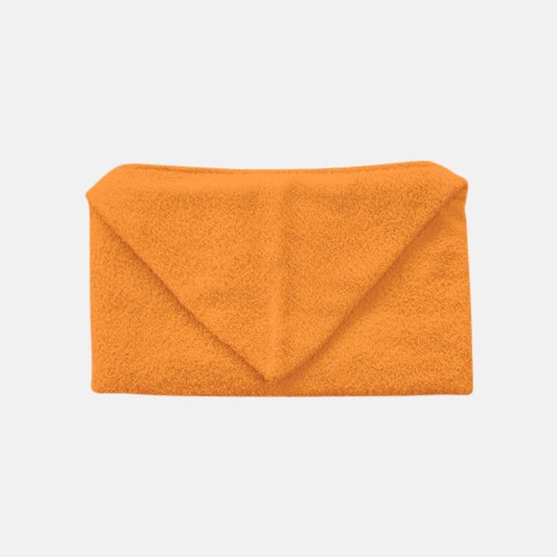 Sunny Orange Handdukar för barn med huva - med reklamlogo