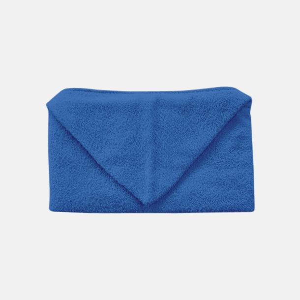 Royal Blue Handdukar för barn med huva - med reklamlogo