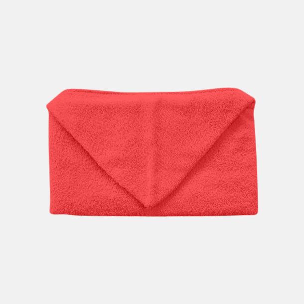 Poppy Red Handdukar för barn med huva - med reklamlogo