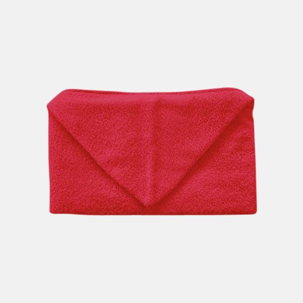 Paprika Red Handdukar för barn med huva - med reklamlogo