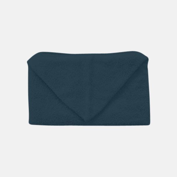 Marinblå Handdukar för barn med huva - med reklamlogo