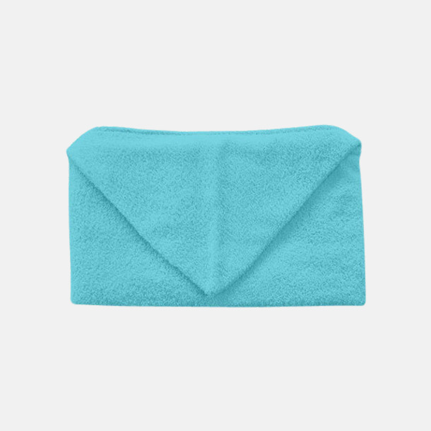 Blue Caracao Handdukar för barn med huva - med reklamlogo