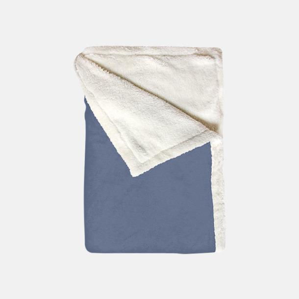 Soft Blue Mjuka & fina sherpa fleece filtar med reklamlogo