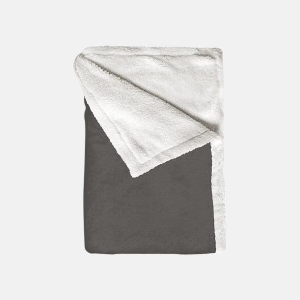 Shale Taupe Mjuka & fina sherpa fleece filtar med reklamlogo
