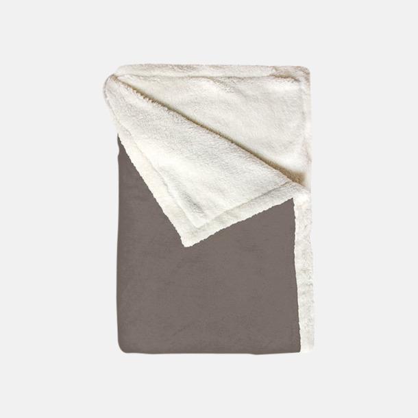 Rustical Grey Mjuka & fina sherpa fleece filtar med reklamlogo