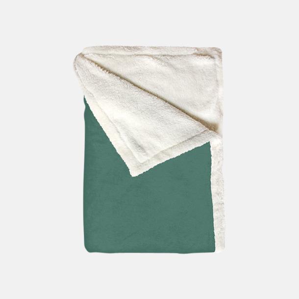 Rustical Green Mjuka & fina sherpa fleece filtar med reklamlogo