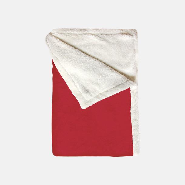 Jester Red Mjuka & fina sherpa fleece filtar med reklamlogo