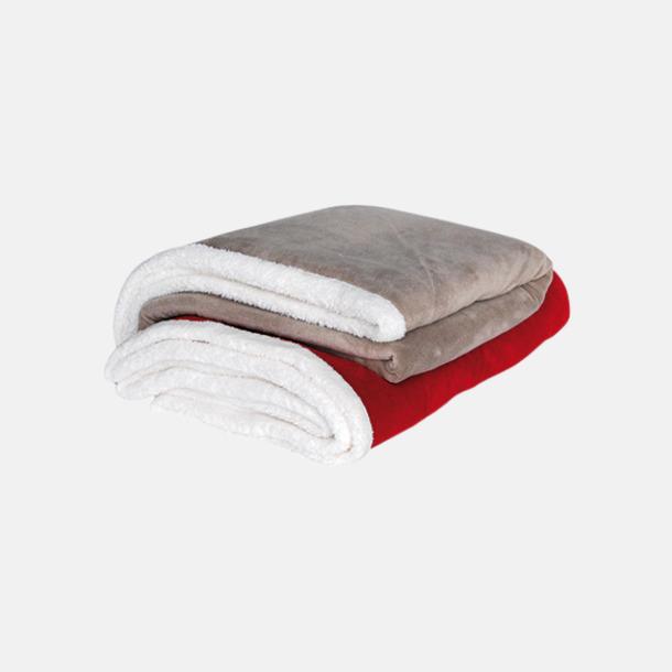 Mjuka & fina sherpa fleece filtar med reklamlogo