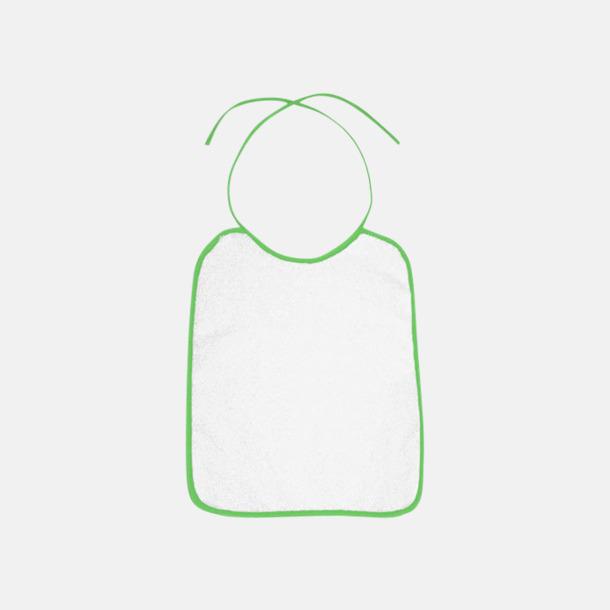 Grön Frottéhaklappar i terry eller velour med reklamtryck