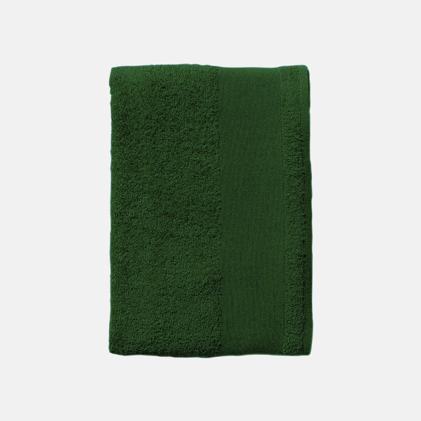 Bottle Green Terry handdukar med reklamlogo
