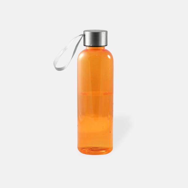 Orange Remförsedda vattenflaskor med reklamtryck