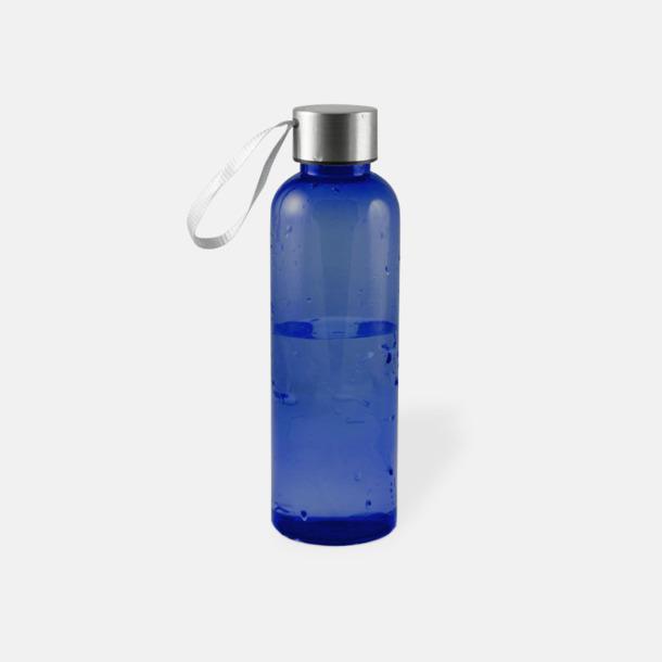 Mörkblå Remförsedda vattenflaskor med reklamtryck