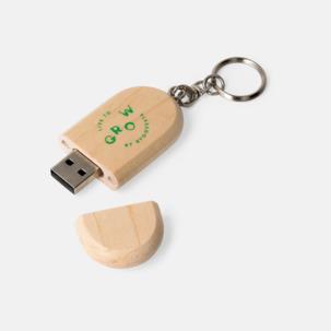 Ovalt eko USB-minne med eget tryck